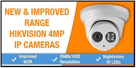 4MP Hikvision IP Cameras