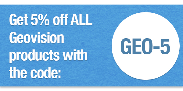 Get 5% off all Geovison products with the coupon code GEO-5