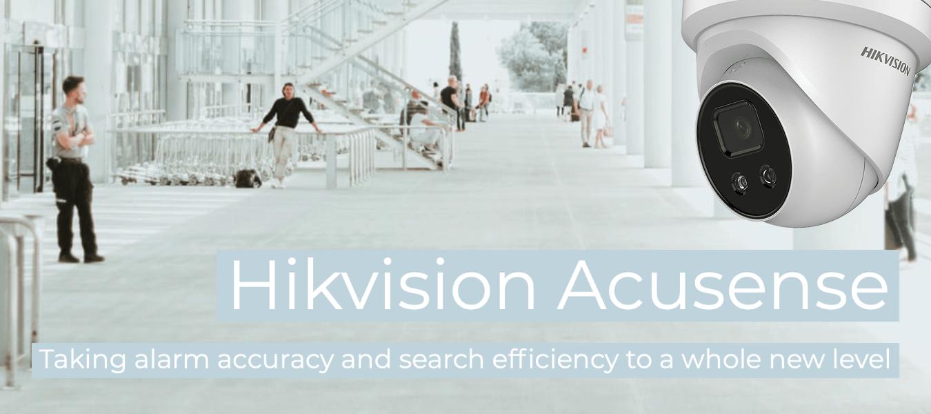 Hikvision's range of AcuSense IP cameras