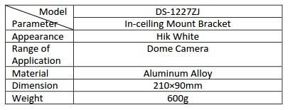 Hikvision DS-1227ZJ Indoor In-ceiling Mount