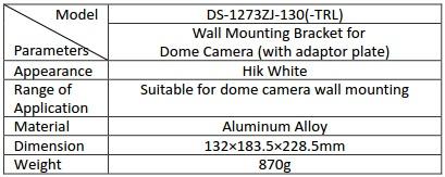 Hikvision DS-1273ZJ-130-TRL Wall Mount Bracket