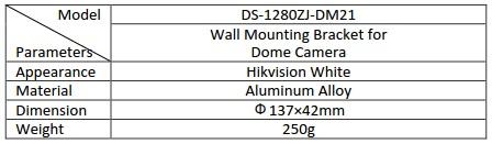 Hikvision DS-1280ZJ-DM21 Junction Box